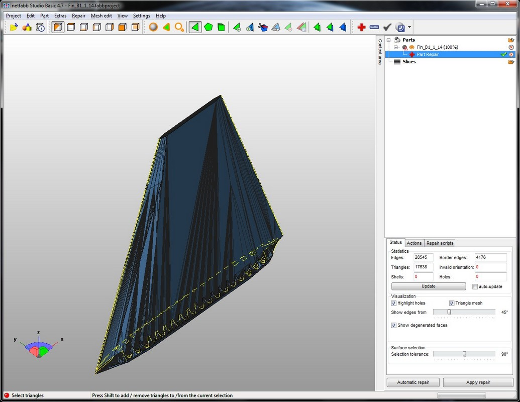 netfabb for Fixing STL Files - Meatball Rocketry